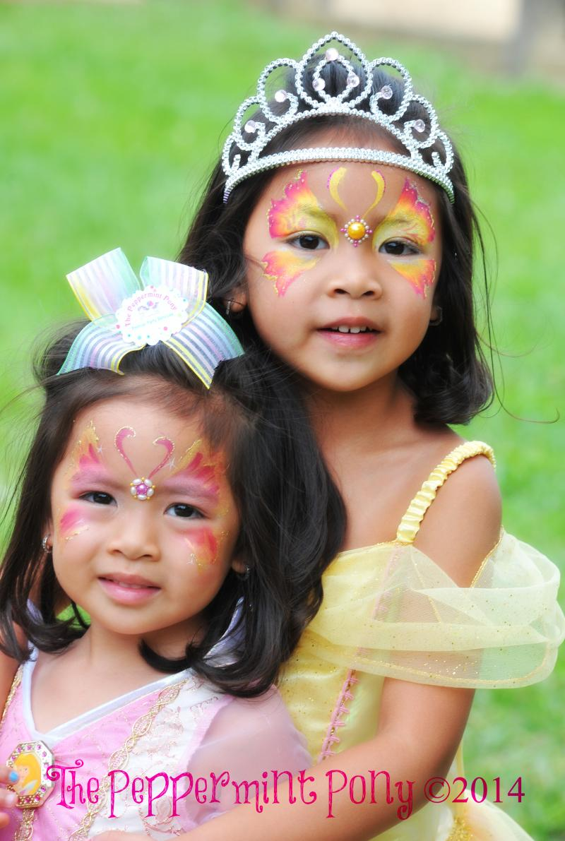 Fabulous Face Painting is our thing.  Coordinate with pretty party dresses